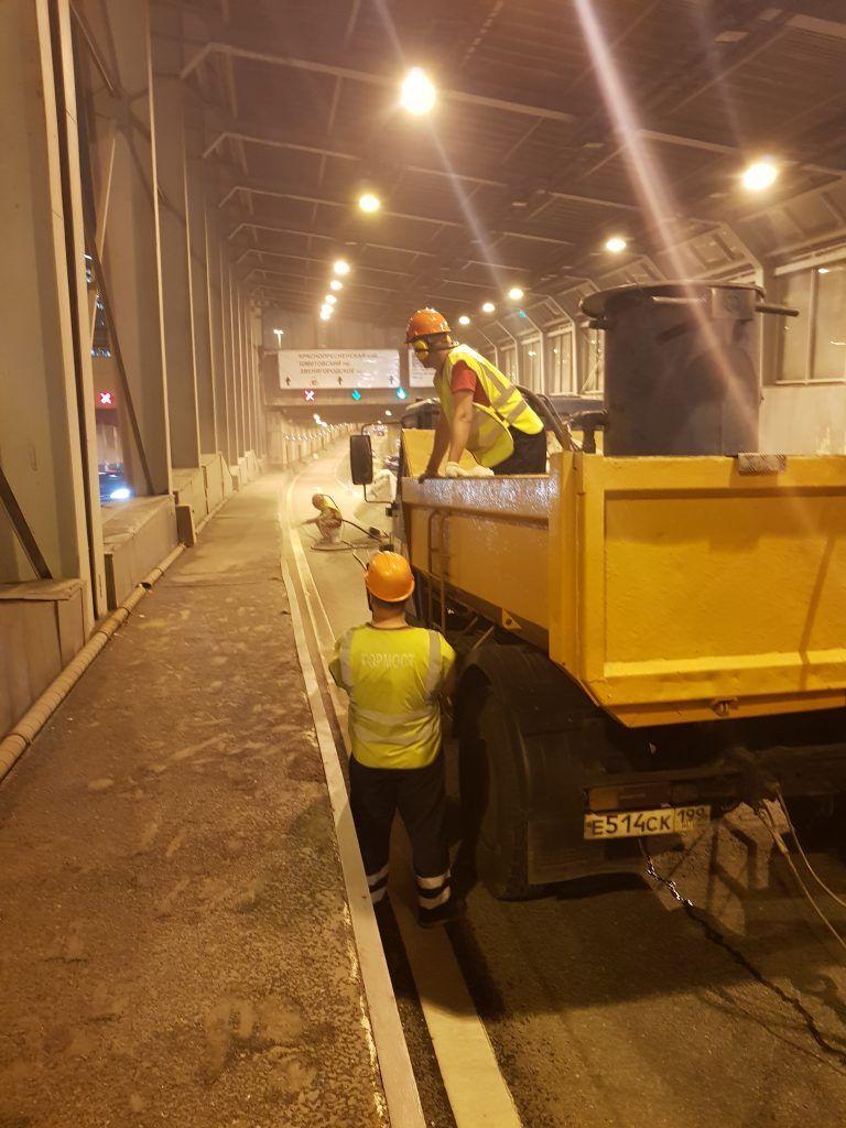 Очистка Новокутузовского тоннеля