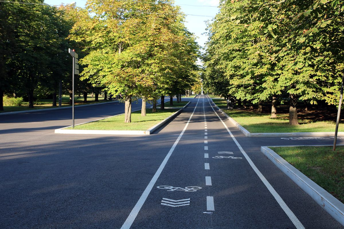 В парке Победы обновили велодорожки