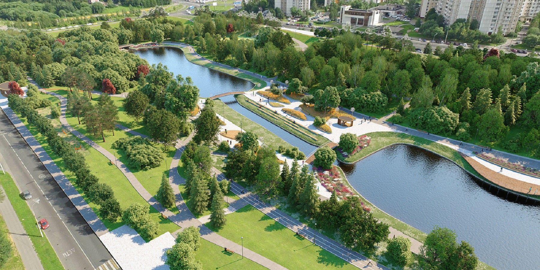 Парк в пойме реки Битца