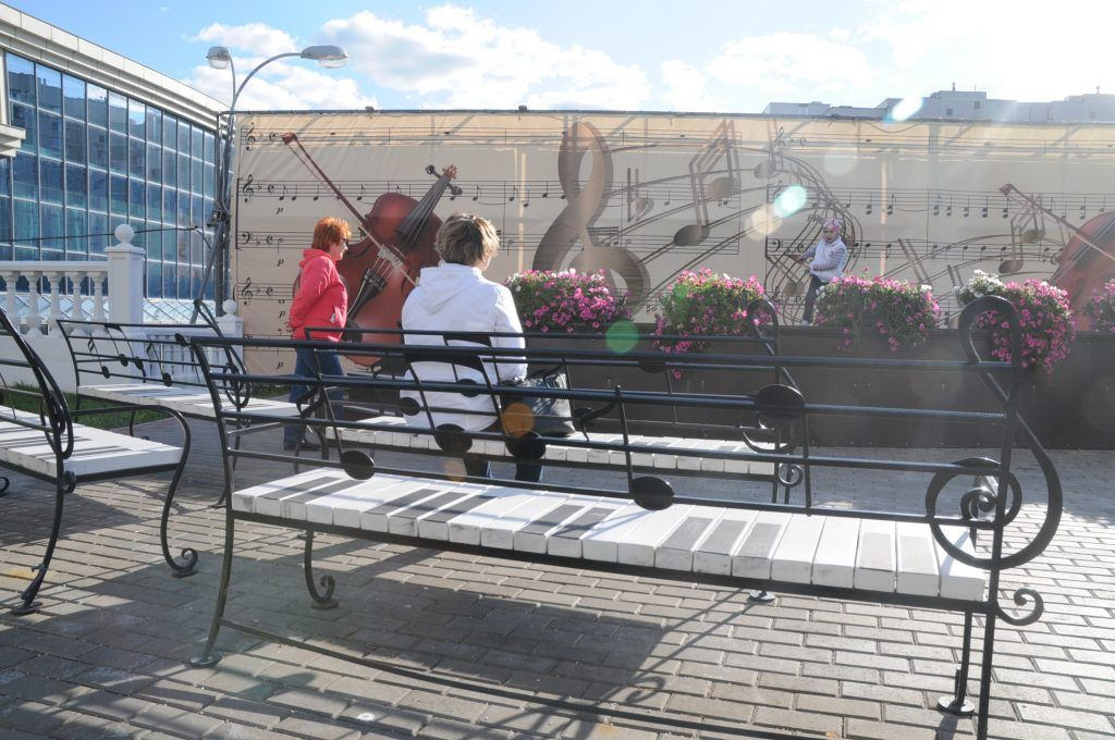 скамейки в Северном Бутове