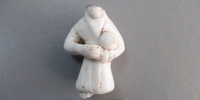 Дед Мороз из глины