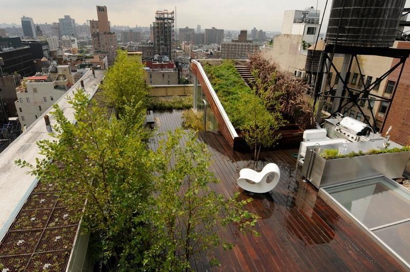 крыши садов