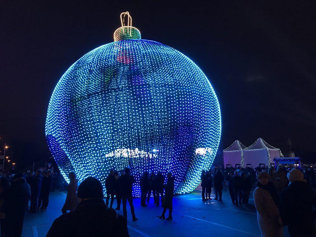 шар, новый год, украшение Москвы