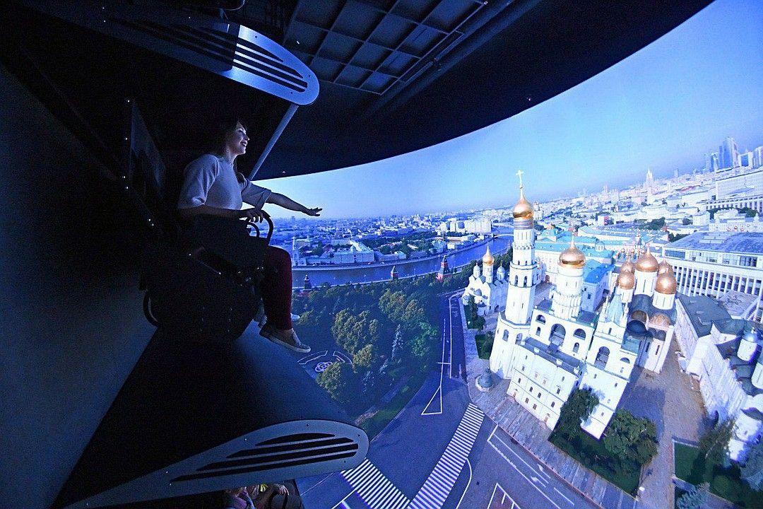 Полет над Россией