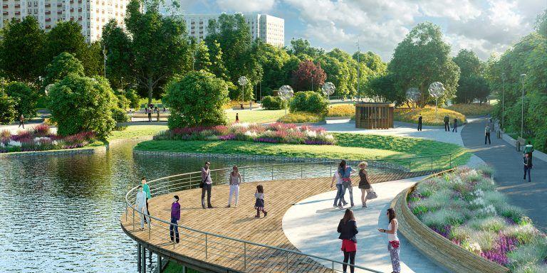 Парк в пойме реки Битцы