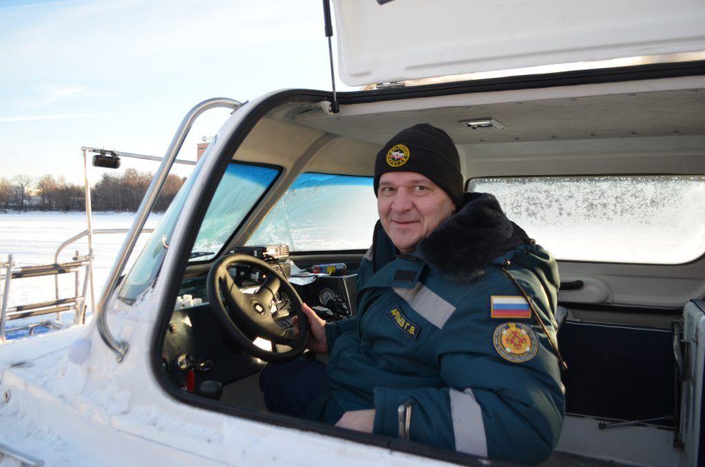 московские спасатели на льду