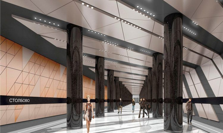 новая станция метро Столбово