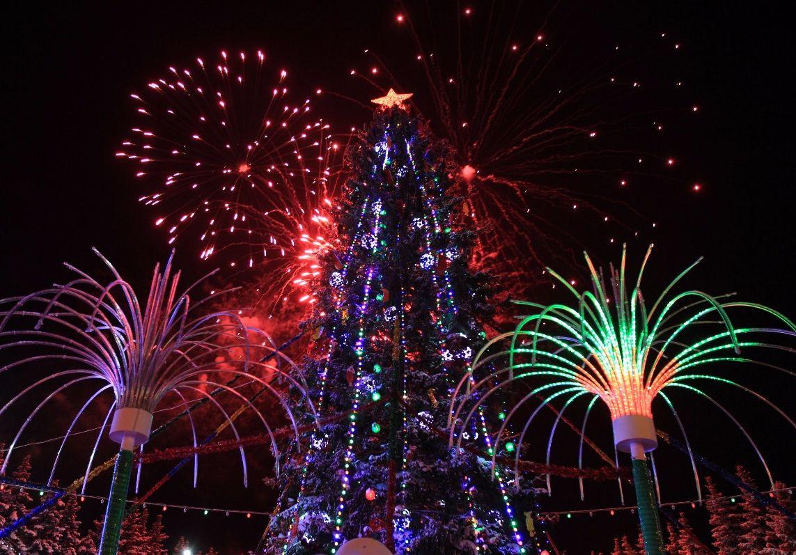 фейерверки в новогоднюю ночь