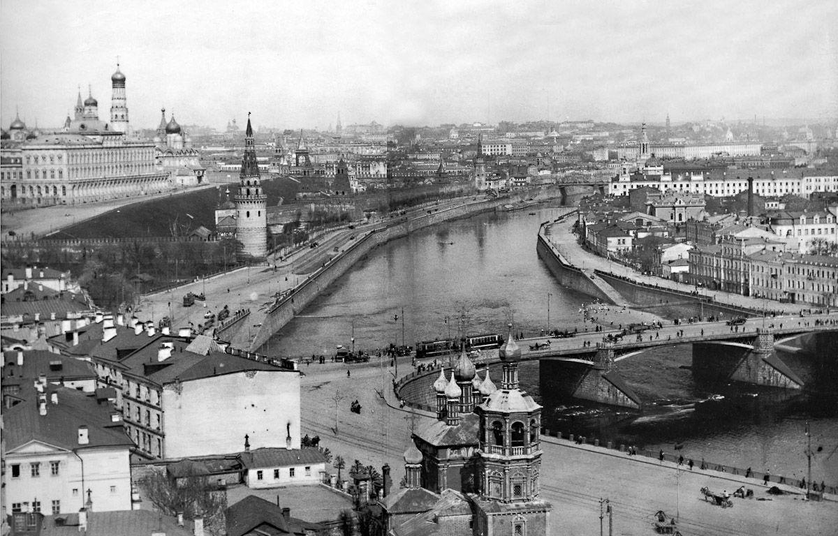 Москва несколько десятков лет тому назад