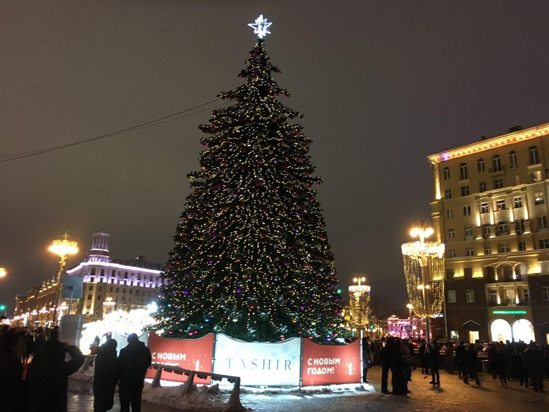 улица Тверская Новый год елка