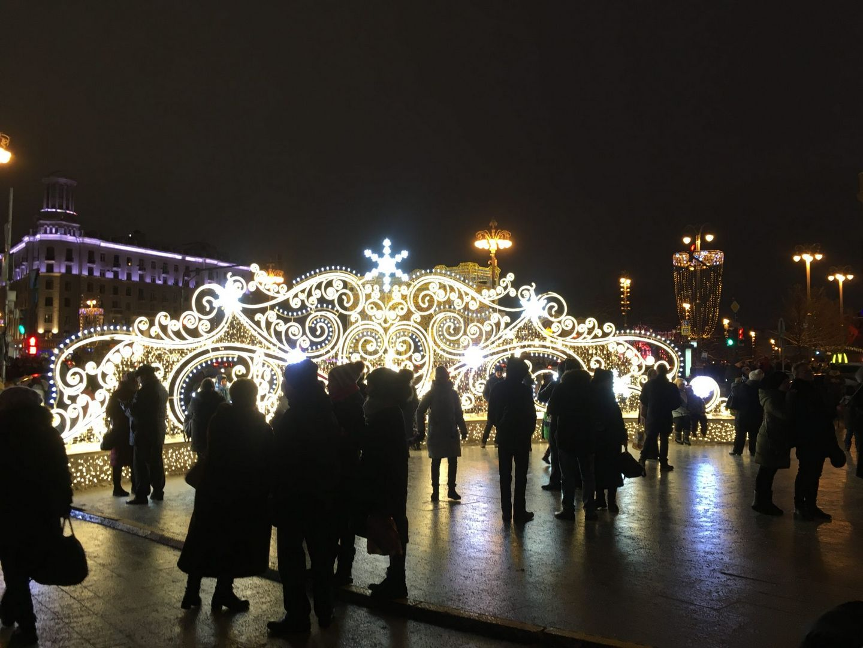 улица Тверская Новый год