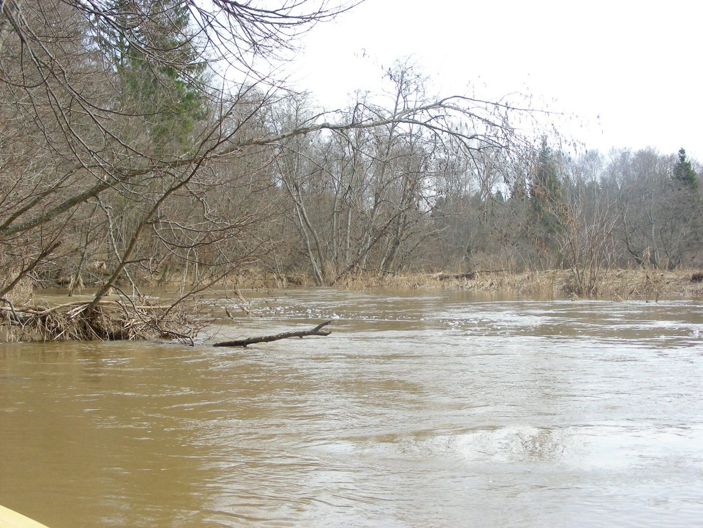 В Мае реки, особенно в северных регионах Подмосковья еще не вошли окончательно в свои берега. Быстрое течение и низко нависающие над водой кусты представляют опасность для туристов водников