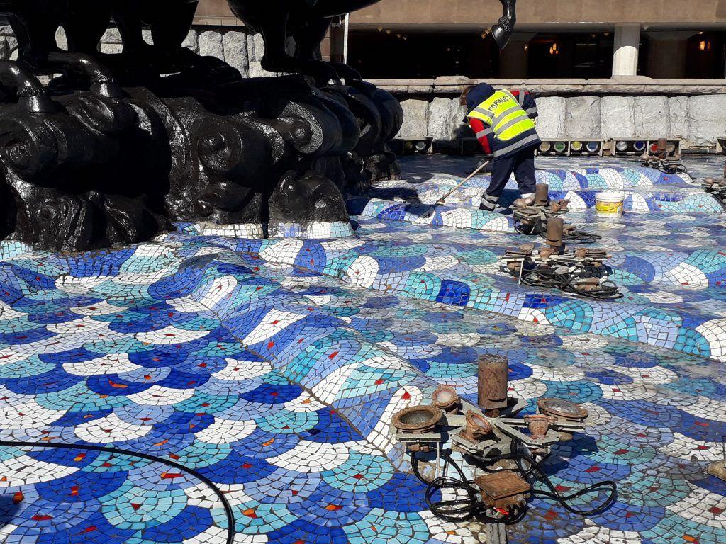 промывка фонтана