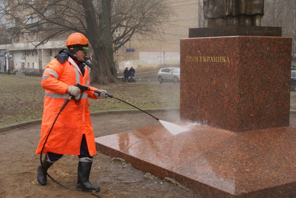 промывка памятника