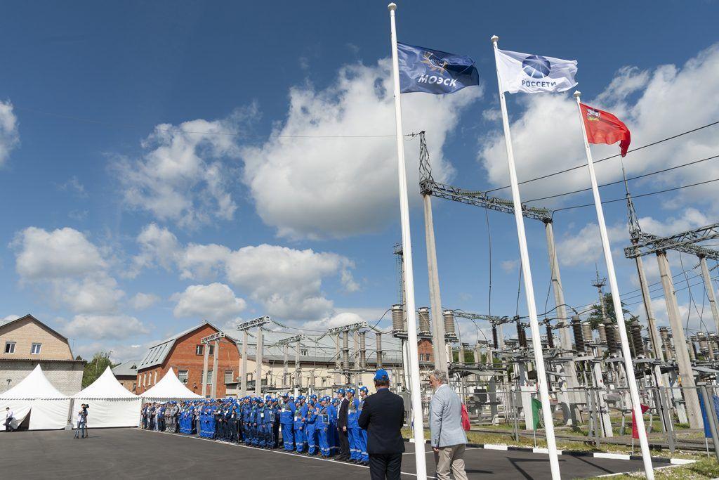 Учебно-тренировочный полигон ПАО «МОЭСК» флаги