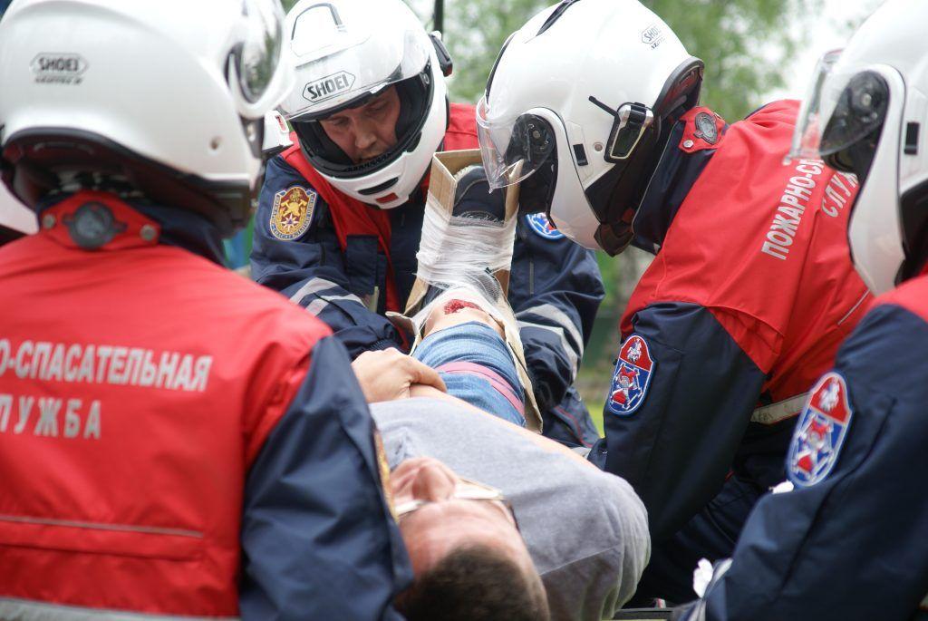 мотоспасатели спасение пострадавшего эвакуация