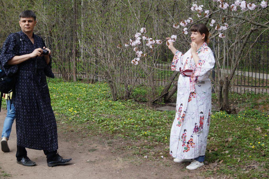 Семейная пара в кимоно и юкате
