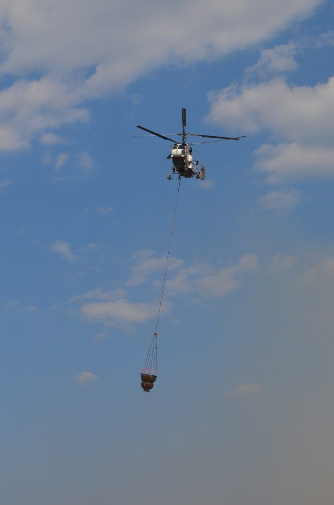 вертолет с водой