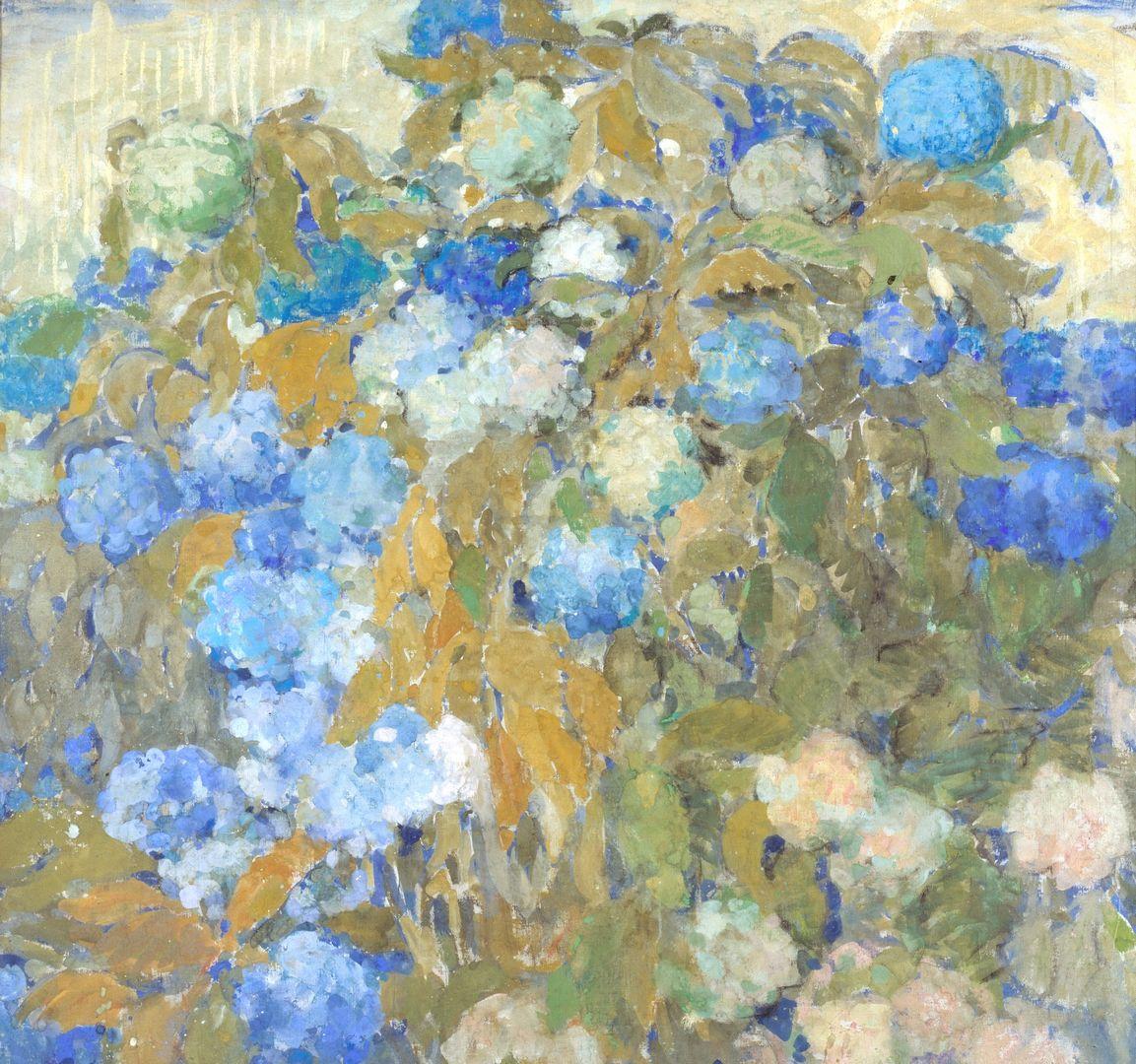 Голубые гортензии выставка картины