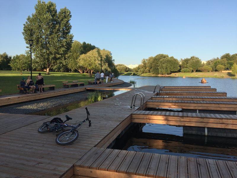 пристань велосипед река набережная