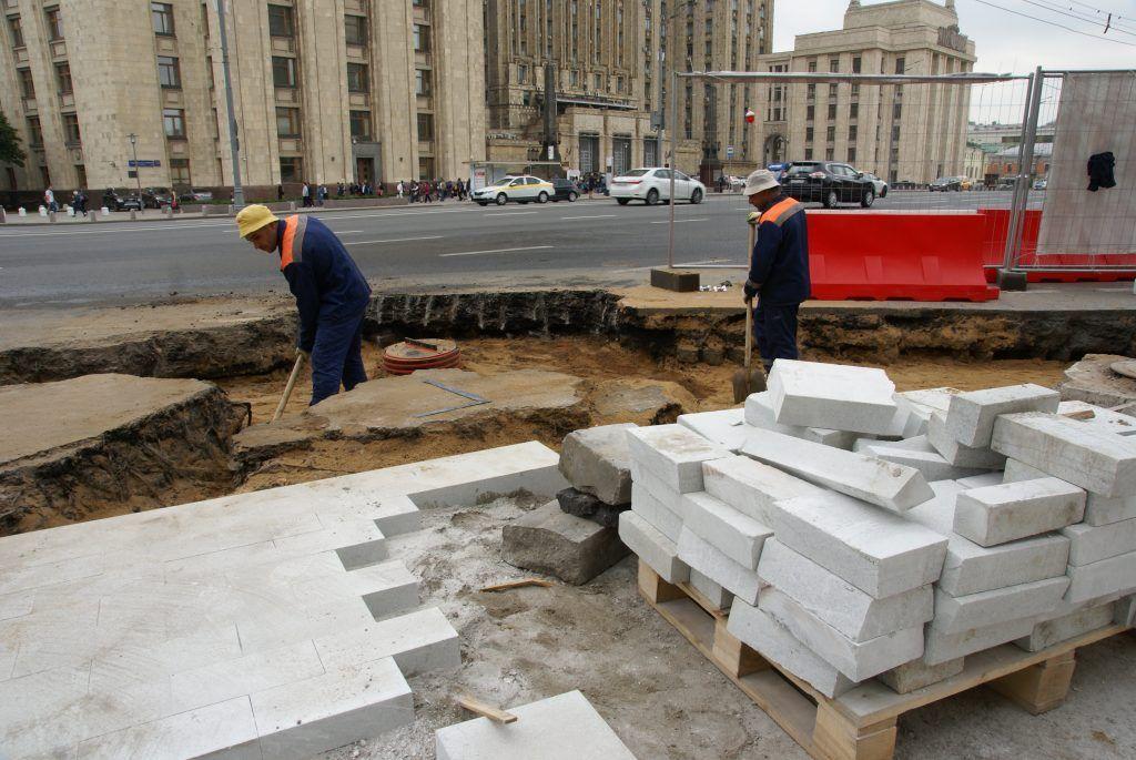 благоустройство ремонт улиц  стройматериалы