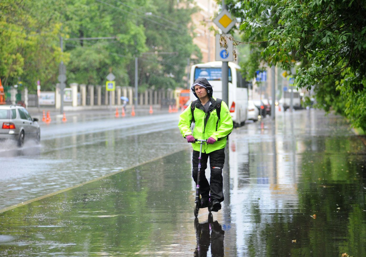 гроза дождь погода в Москве