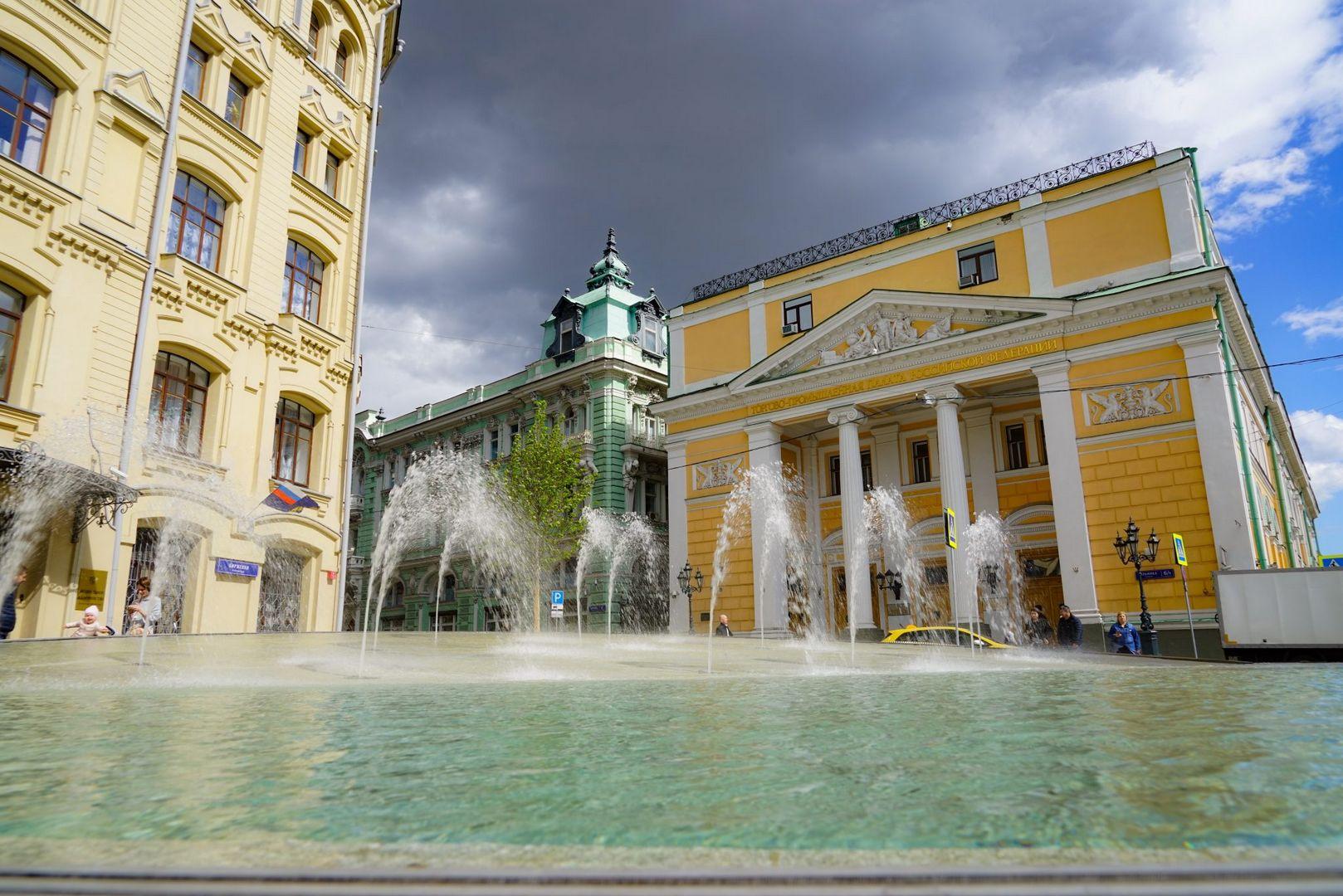 жара фонтаны погода в Москве лето в Москве