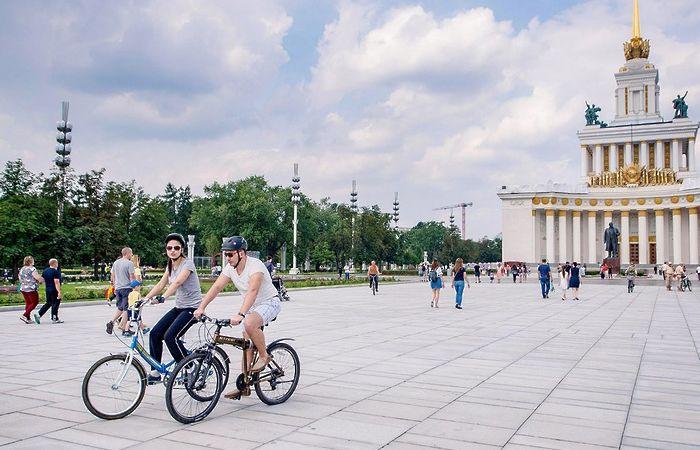 ВДНХ спорт велосипеды