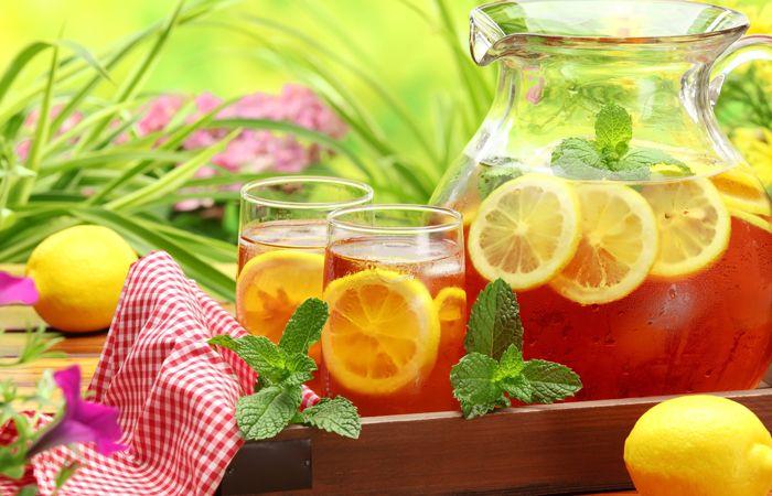 жара лето чай лимон