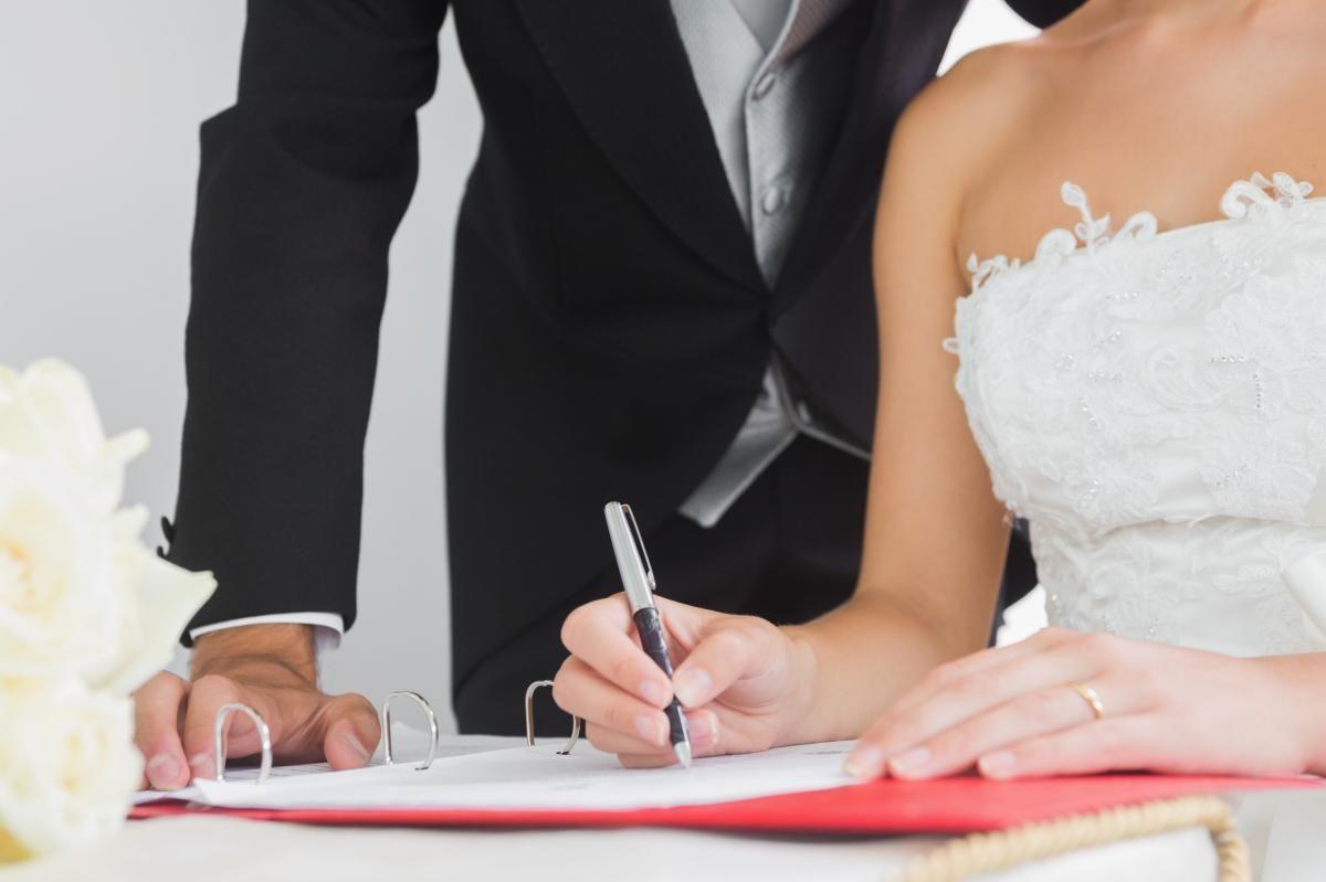 свадьба загс штамп в парспорте