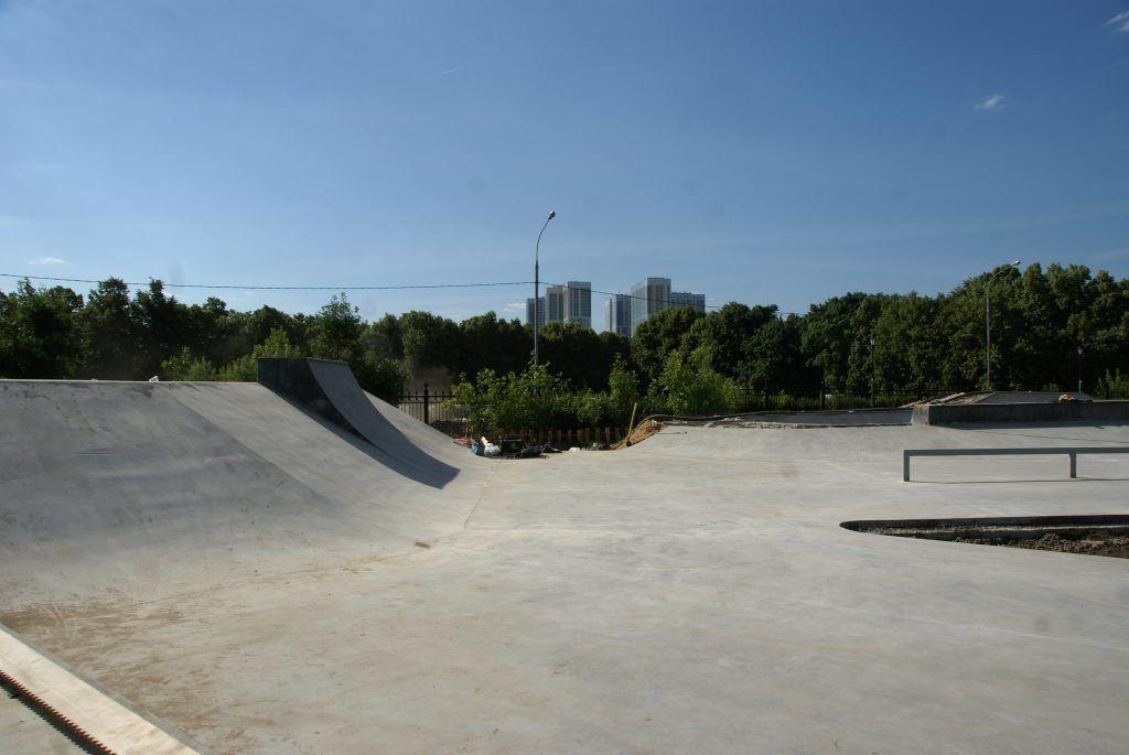 Детский Черкизовский парк благоустройство скейт-площадки