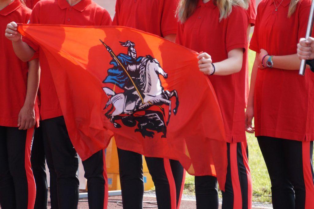 школа безопасности, соревнования, Апаринки, участники, флаг Москвы