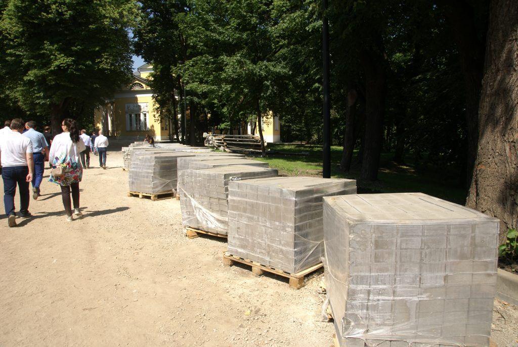 усадьба Люблино благоустройство и озеленение парка «Усадьба Люблино» стройматериалы