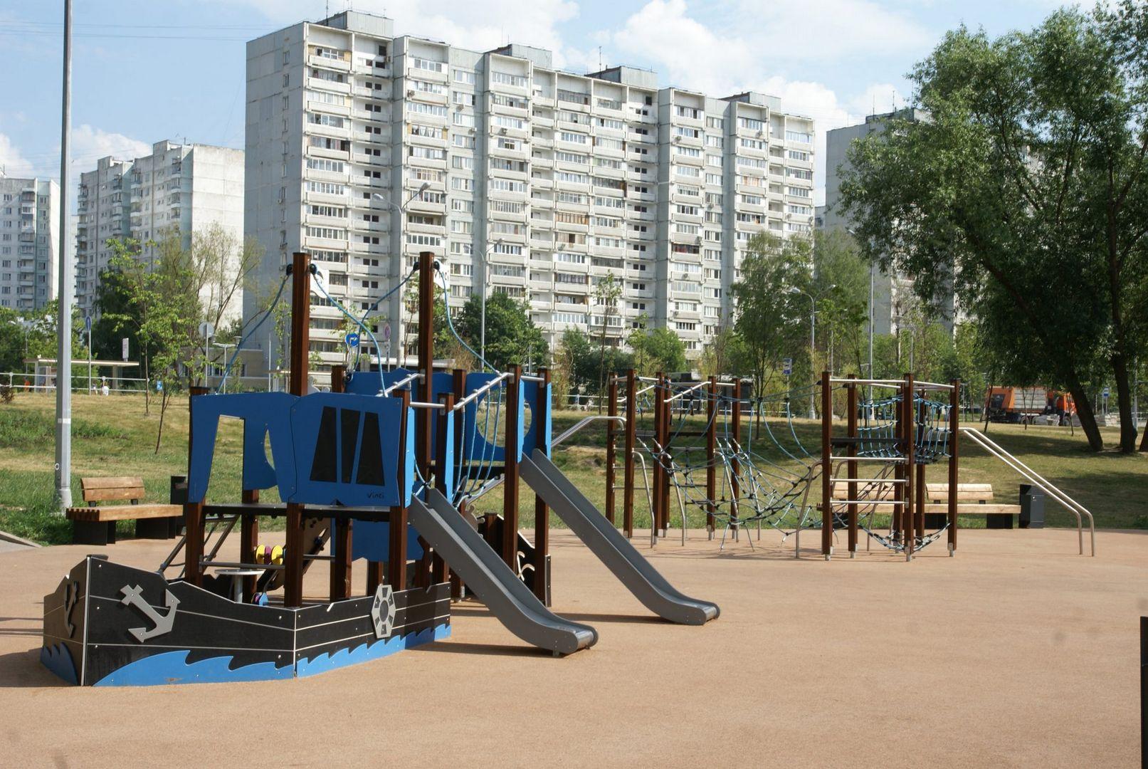 Солнцево Большой Солнцевский пруд благоустройство Центральный парк детская площадка