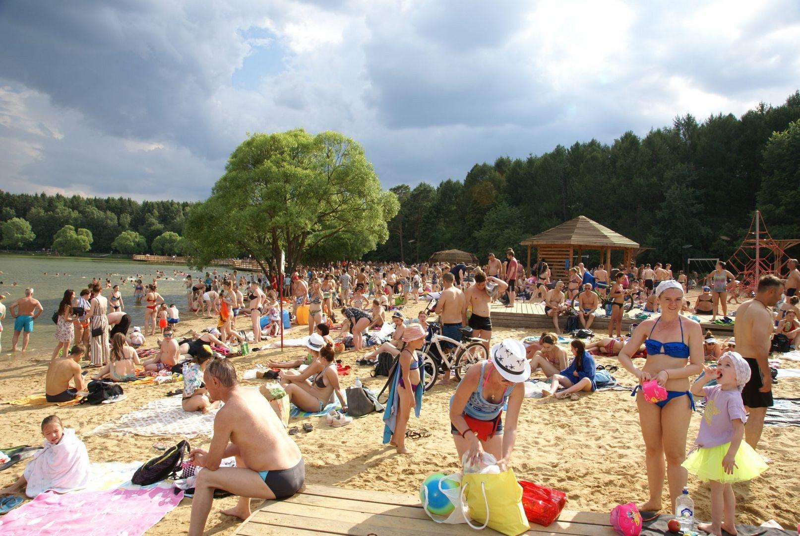 мещерский пруд лето в Москве пляж