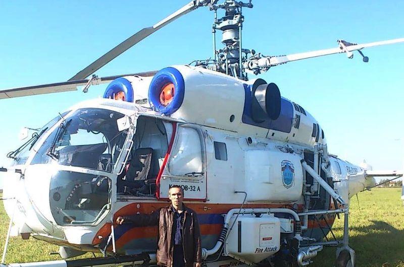 Олег Тимофеев, вертолет