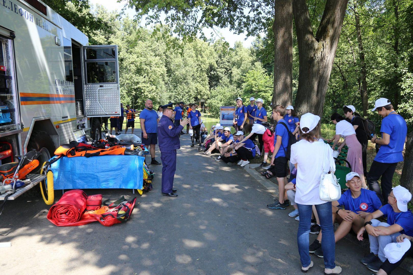 лето, каникулы, дети, Департамент гражданской обороны, спасатели