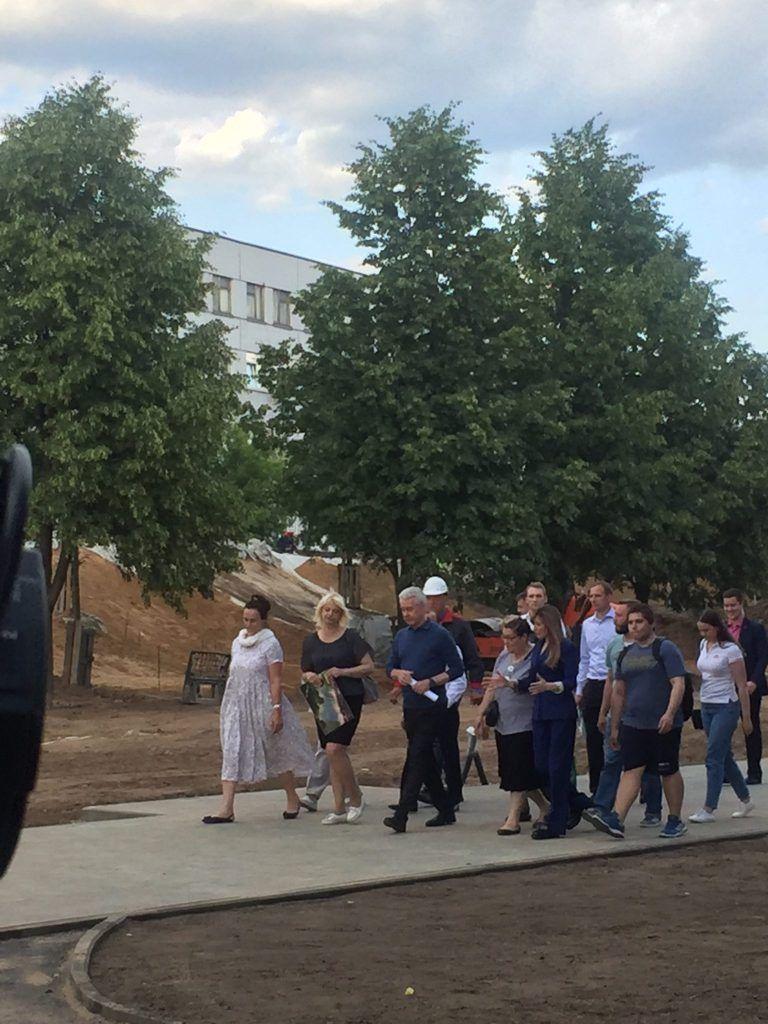 Сергей Собянин Парк Света благоустройство озеленение жители Бибирево