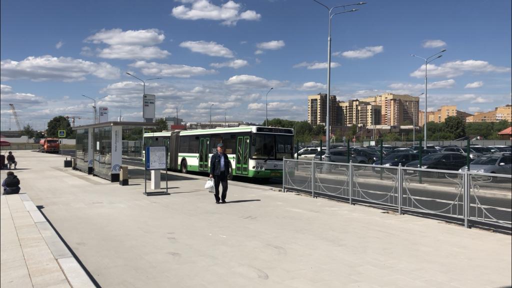 метро Коммунарка благоустройство территории остановка автобуса