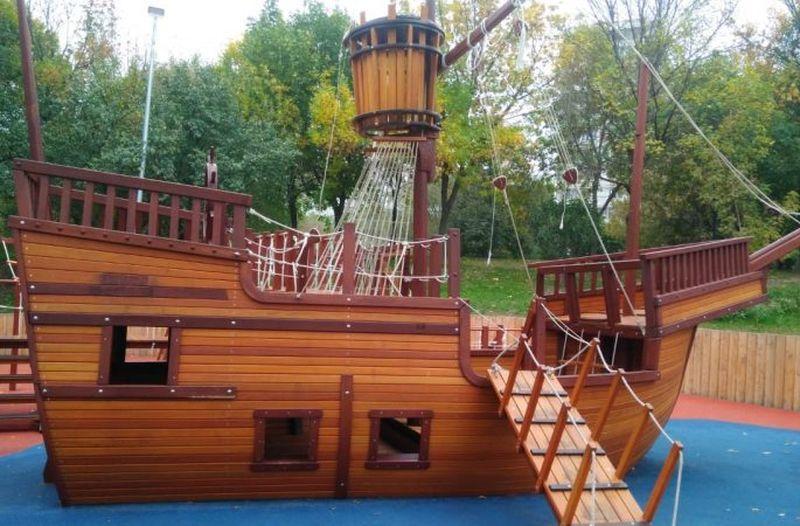 детская площадка корабль
