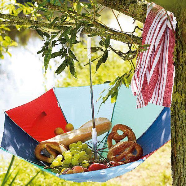 Пикник лето в Москве зонт продукты