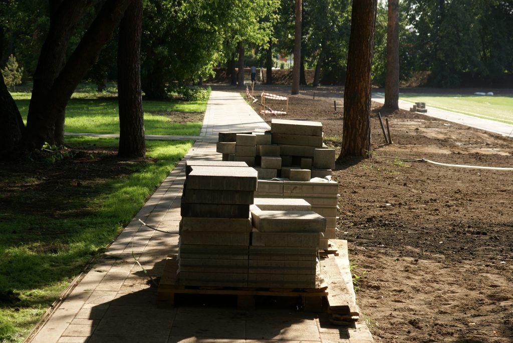 Детский Черкизовский парк благоустройство плитка