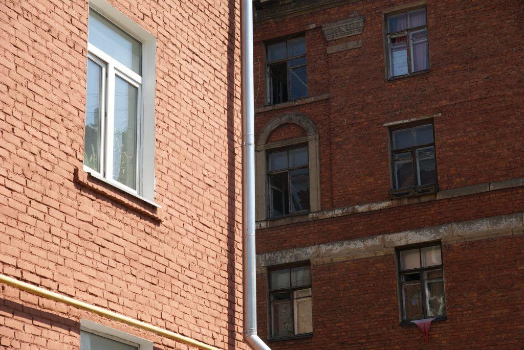 благоустройство мытье фасадов лето в Москве