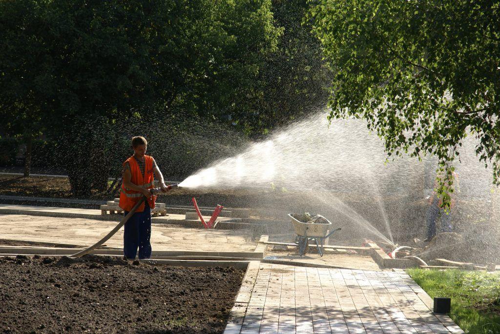 Детский Черкизовский парк благоустройство полив