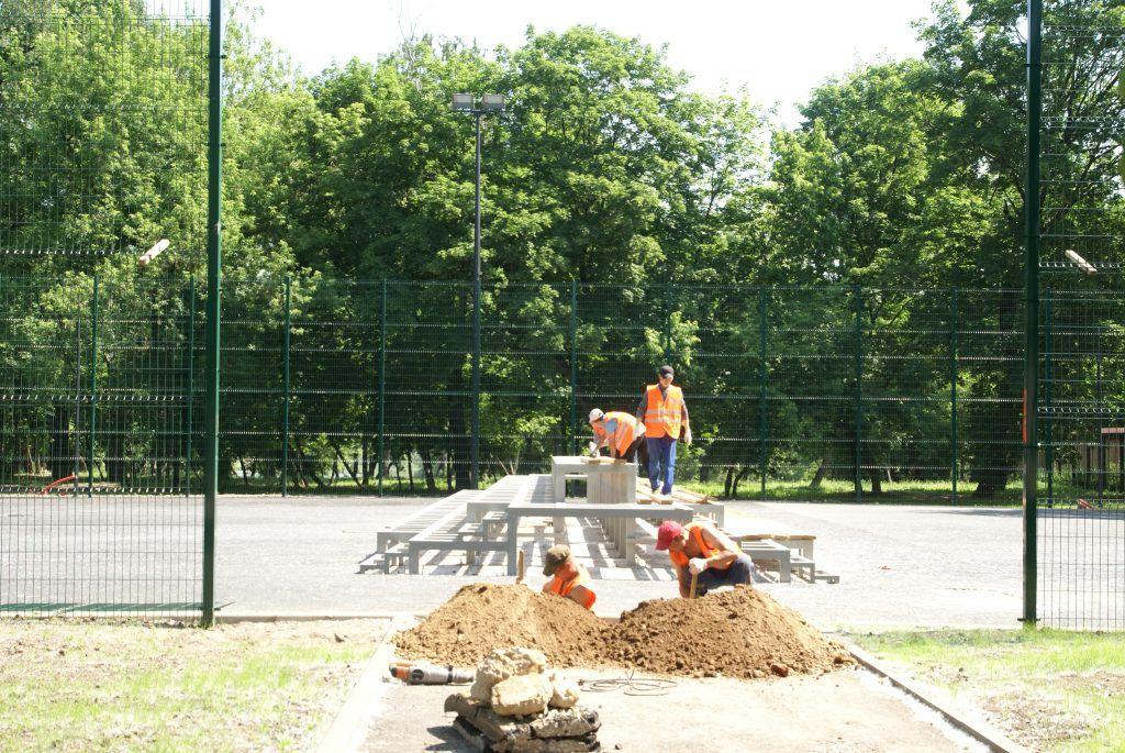 усадьба Люблино благоустройство и озеленение парка «Усадьба Люблино» спортивная площадка