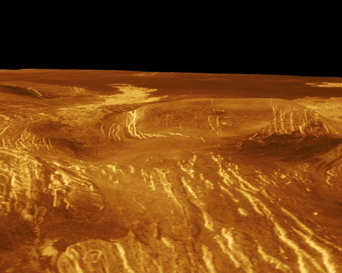 Снимок поверхности Венеры