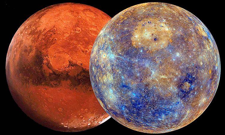 сближение Марса и Меркурия