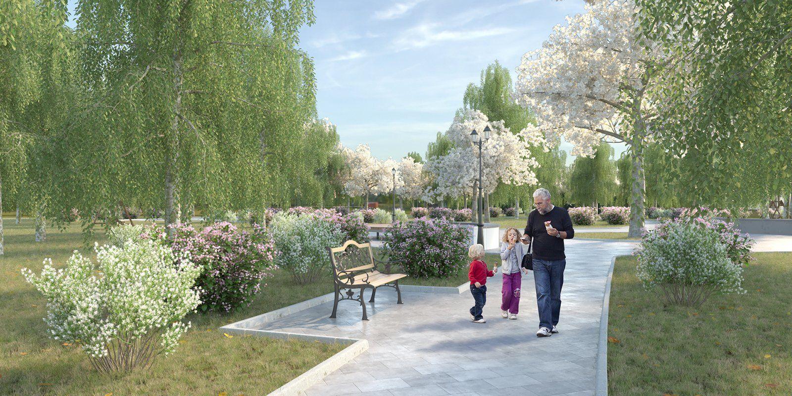 Детский Черкизовский парк благоустройство проектное решение