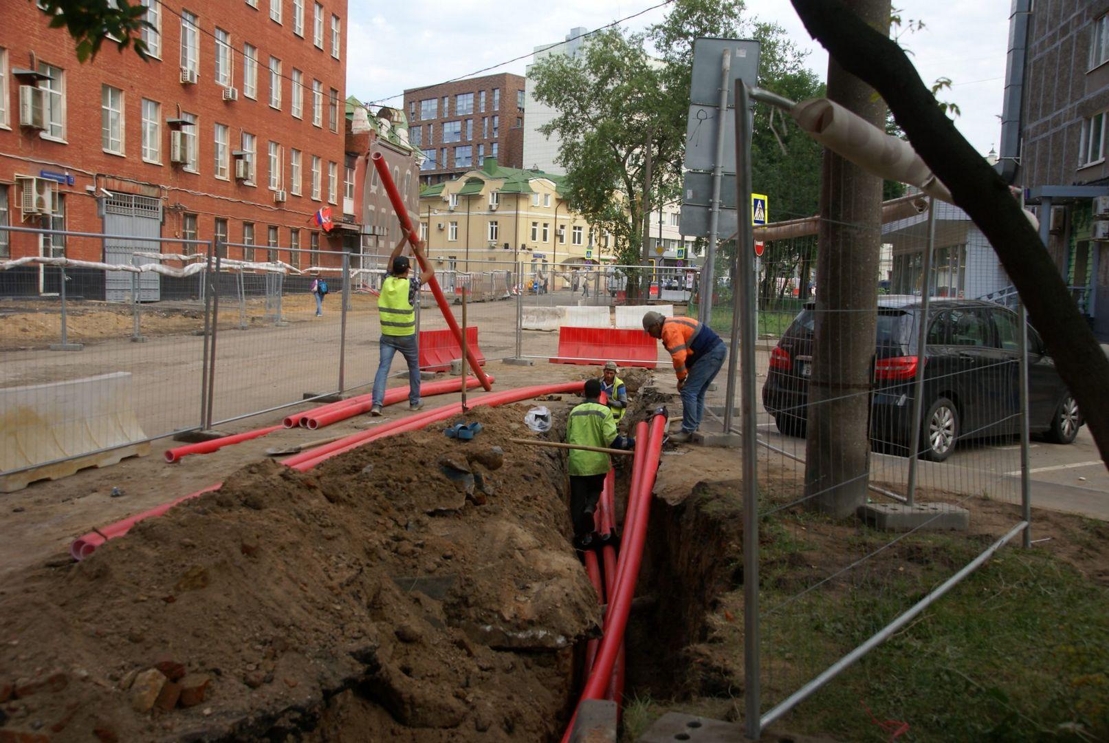 стройплощадка, кабель, кабельная канализация, траншея