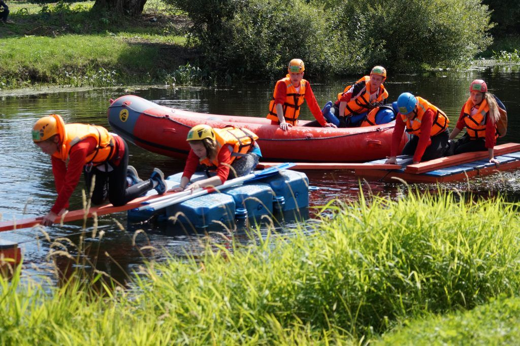 школа безопасности, Апаринки, соревнования, спасатели, река, байдарки